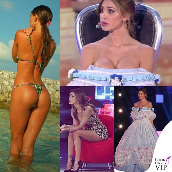 Belen-Rodriguez-Paquenos-Gigantes-quarta-puntata-tuta-Moschino_