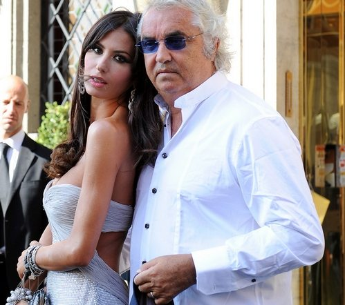 Flavio Briatore and his wife Elisabetta