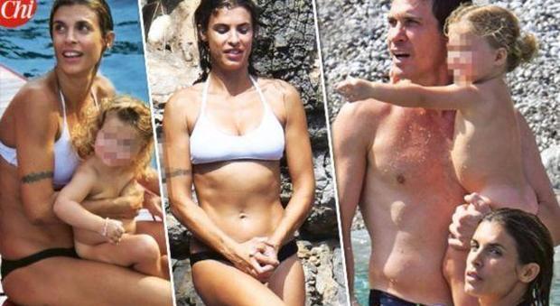 "Elisabetta Canalis mamma sexy in Costiera Amalfitana: ""Un Paradiso"""
