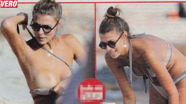 Cristina Chiabotto, topless fuori stagione