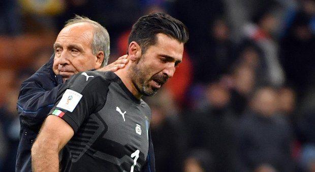 """Italia fuori dai piedi. Ventura sbaglia tutto, assedio sterile e inutile. Buffon piange: """"Fallimento sociale, smetto"""""""