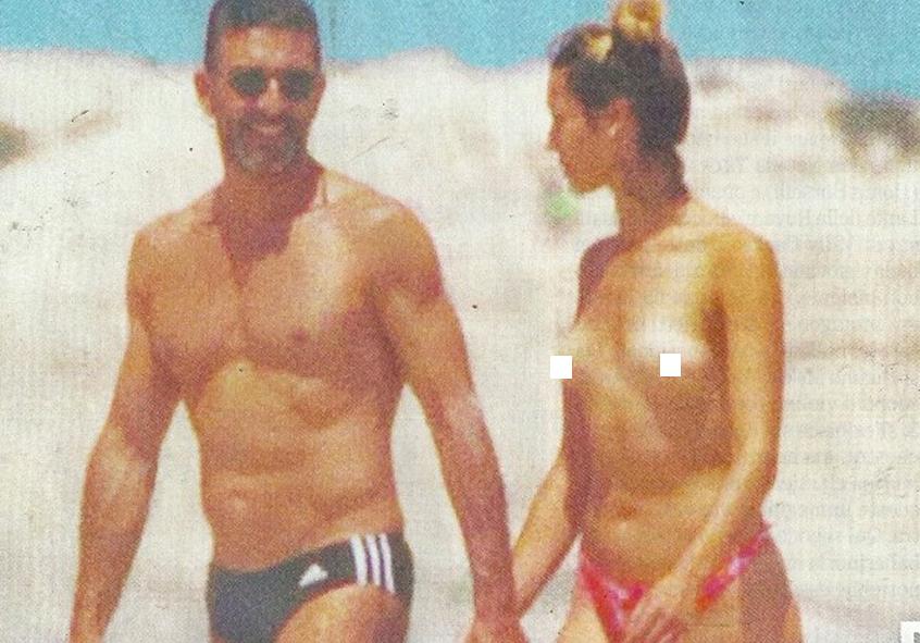 Simone Di Pasquale estate hot: nella spiaggia dei nudisti con la sexy fidanzata Melody
