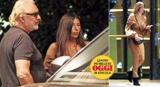 Flavio Briatore, eccolo con la fidanzata Vittoria Di Flavio: «Mora dal fisico statuario, lavora al Billionaire»
