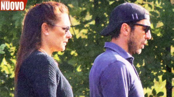 Gigi Buffon e Alena Seredova, incontro con musi lunghi