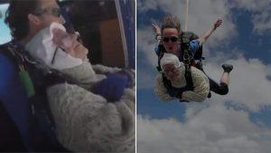 Nonna Irene si lancia dal paracadute a 102 anni: l'ha fatto