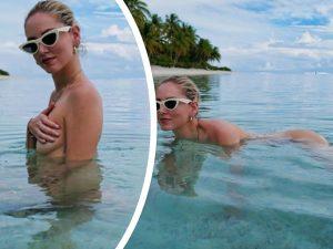 Chiara Ferragni |  bagno nuda in mare  Fan al vetriolo |  «Non ti vergogni?»  La sua risposta