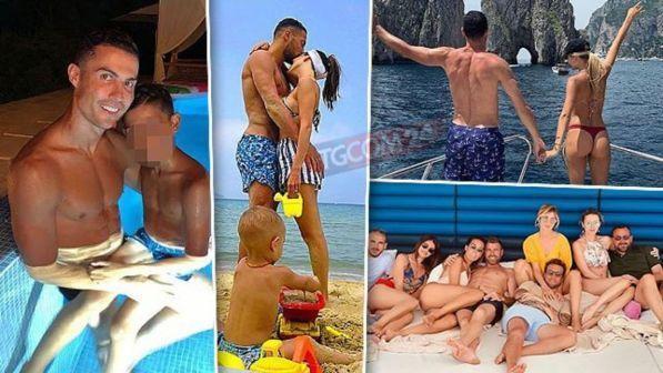 Calciatori in vacanza: da Ronaldo a Icardi, guarda chi prend