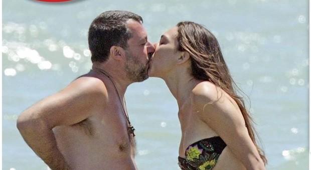 Matteo Salvini e Francesca Verdini, baci e coccole a Milano