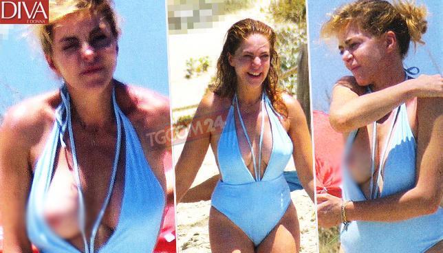 Claudia Gerini in libertà, guarda che mezzo topless!