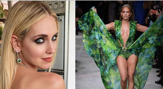 Jennifer Lopez sfila con l'abito Versace: Chiara Ferragni re